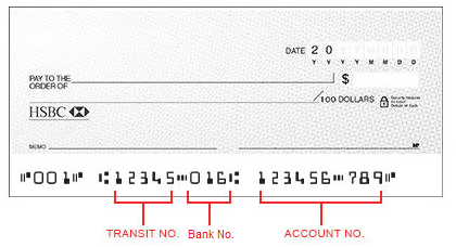 Cheque order | HSBC Canada